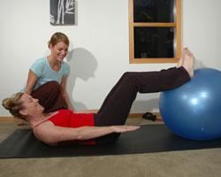 Pilates work at Anne's private studio