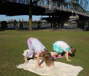 Kelsey's girls bear crawl 7.16
