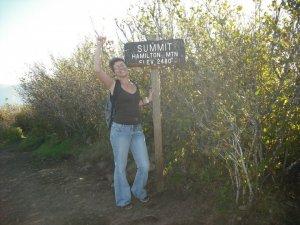Anne at the summit of Hamilton Mountain