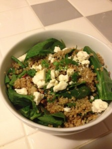 spinach quinoa salad 11.13
