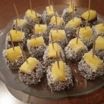 Chocolate + Coconut Pineapple Bites
