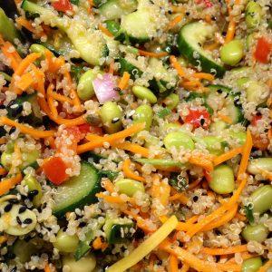 asian quinoa salad 8.14