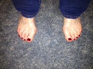 Susan toes May 2013