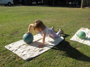 Kelsey's girls med ball push up 2 7.16