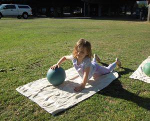 Kelsey's girls med ball push up 3 7.16