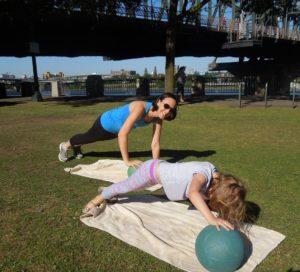 Kelsey's girls med ball push up 7.16