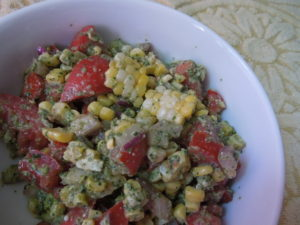 pesto corn tomato salad 9.16