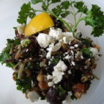 Wild Rice, Kale, and Grape Salad, With Citrus Dressing