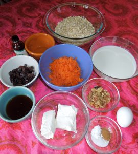 carrot cake baked oatmeal ingredients 5.17