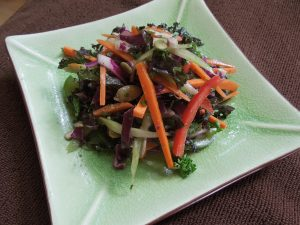 honey mustard kale and cabbage slaw 6.17