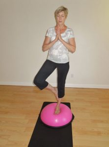 working out with a BOSU