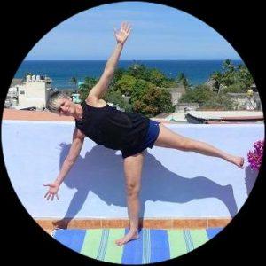 Yoga Half Moon Standing Balance