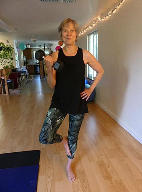 standing yoga balance arm strength
