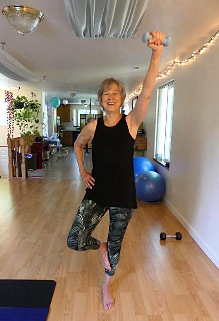 yoga standing balance shoudler strength