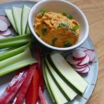 Sriracha Carrot Hummus Recipe