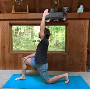 low lunge hip stretch balance