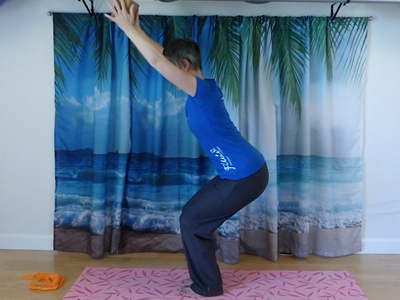 Leg strength, standing balance, yoga strength exercise, shoulder strength and mobility