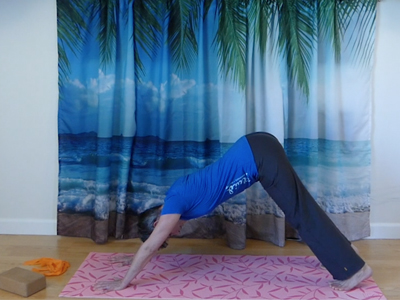 Shoudler and hip flexibility, core strength, yoga hamstring stretch, calf stretch, foot stretch