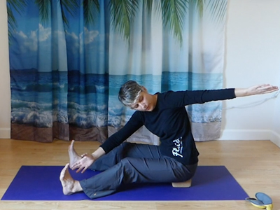 Pilates core strength, spine mobility, shoulder rotation, hamstring flexibility
