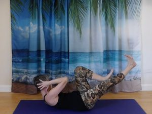 Pilates core strength exercise